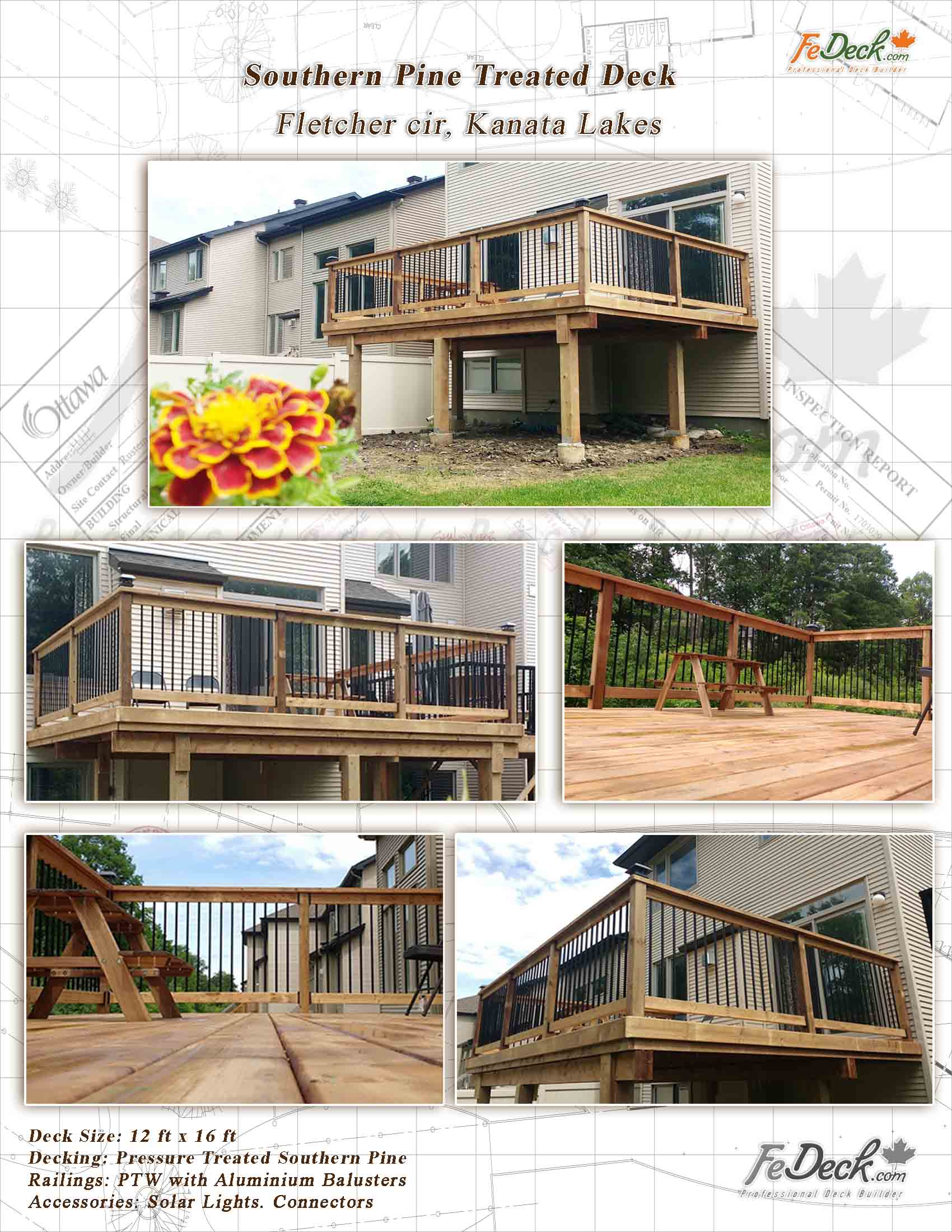 treated pine decks