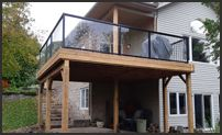 Glass Railings Decks